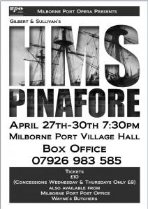 Milborne Port HMS Pinafore