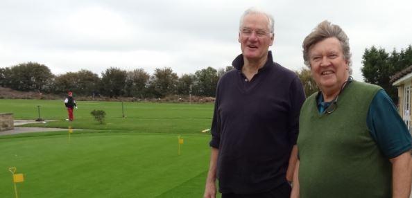 John Macdonald and Richard Gaunt, the worst golfer in Horsington