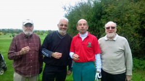 The Winning Team from Henstridge GC - Tony Brodie, Steve Penny, David Constable, Mike Baker